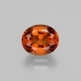 thumb image of 2.4ct Oval Facet Cinnamon Orange Hessonite Garnet (ID: 398823)