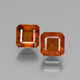 thumb image of 3.2ct Octagon Facet Cinnamon Orange Hessonite Garnet (ID: 431070)