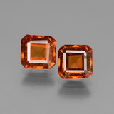 thumb image of 2.8ct Octagon Facet Cinnamon Orange Hessonite Garnet (ID: 431074)