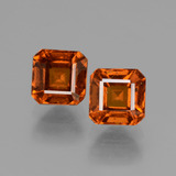 thumb image of 2.9ct Octagon Facet Cinnamon Orange Hessonite Garnet (ID: 431155)