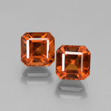 thumb image of 3.4ct Octagon Facet Cinnamon Orange Hessonite Garnet (ID: 431235)