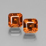 thumb image of 3.6ct Octagon Facet Cinnamon Orange Hessonite Garnet (ID: 431238)