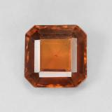 thumb image of 1.9ct Octagon Step Cut Deep Orange Hessonite Garnet (ID: 431316)