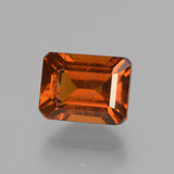 thumb image of 2.5ct Octagon Facet Cinnamon Orange Hessonite Garnet (ID: 431528)