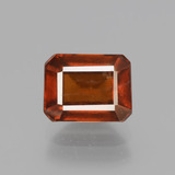 thumb image of 2.5ct Octagon Facet Cinnamon Orange Hessonite Garnet (ID: 431533)