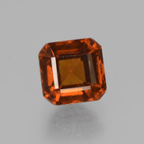 thumb image of 1.6ct Octagon Facet Cinnamon Orange Hessonite Garnet (ID: 431675)