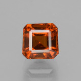 thumb image of 1.8ct Octagon Facet Dark Orange Hessonite Garnet (ID: 431730)