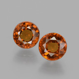 thumb image of 1.9ct Round Facet Cinnamon Orange Hessonite Garnet (ID: 432520)