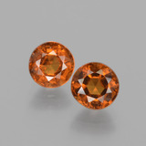 thumb image of 2.2ct Round Facet Cinnamon Orange Hessonite Garnet (ID: 432527)