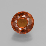 thumb image of 3ct Round Facet Cinnamon Orange Hessonite Garnet (ID: 432676)
