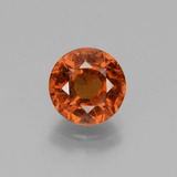 thumb image of 2.2ct Round Facet Cinnamon Orange Hessonite Garnet (ID: 432681)