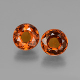 thumb image of 3ct Round Facet Cinnamon Orange Hessonite Garnet (ID: 432723)