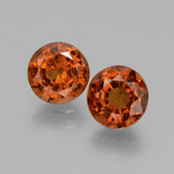 thumb image of 4.5ct Round Facet Cinnamon Orange Hessonite Garnet (ID: 432729)