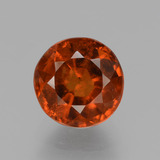 thumb image of 2.6ct Round Facet Cinnamon Orange Hessonite Garnet (ID: 432888)