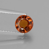thumb image of 1.1ct Round Facet Cinnamon Orange Hessonite Garnet (ID: 432952)