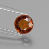 thumb image of 1.3ct Round Facet Cinnamon Orange Hessonite Garnet (ID: 432955)