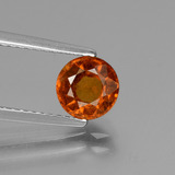 thumb image of 1.3ct Round Facet Cinnamon Orange Hessonite Garnet (ID: 432961)