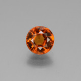 thumb image of 1.3ct Round Facet Cinnamon Orange Hessonite Garnet (ID: 432962)