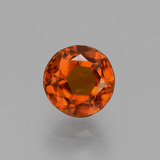 thumb image of 1.3ct Round Facet Cinnamon Orange Hessonite Garnet (ID: 433180)