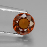 thumb image of 1.3ct Round Facet Cinnamon Orange Hessonite Garnet (ID: 433183)