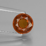 thumb image of 1.2ct Round Facet Cinnamon Orange Hessonite Garnet (ID: 433187)