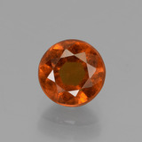 thumb image of 1.4ct Round Facet Cinnamon Orange Hessonite Garnet (ID: 433335)