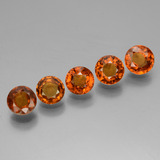 thumb image of 3.7ct Round Facet Cinnamon Orange Hessonite Garnet (ID: 433458)