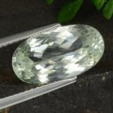 thumb image of 5.2ct Oval Facet Light Green Hiddenite (ID: 474592)