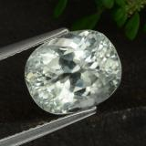 thumb image of 4.9ct Oval Facet Light Green Hiddenite (ID: 474594)