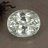 thumb image of 5.8ct Oval Facet Light Green Hiddenite (ID: 474601)