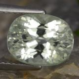 thumb image of 4.4ct Oval Facet Light Green Hiddenite (ID: 475282)