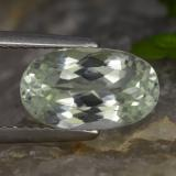 thumb image of 3.3ct Oval Facet Light Green Hiddenite (ID: 475283)