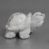 thumb image of 368.1ct Carved Turtle Greyish White Howlite (ID: 448486)