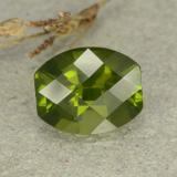 thumb image of 2.6ct Barrel Checkerboard Olive Green Idocrase (ID: 362901)