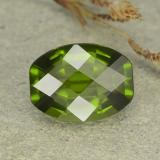 thumb image of 2.6ct Barrel Checkerboard Olive Green Idocrase (ID: 362904)