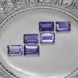 thumb image of 0.5ct Octagon Step Cut Violet Blue Iolite (ID: 279642)