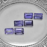 thumb image of 0.5ct Octagon Step Cut Violet Blue Iolite (ID: 279647)