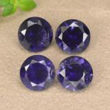 thumb image of 1.2ct Round Facet Violet Blue Iolite (ID: 468770)