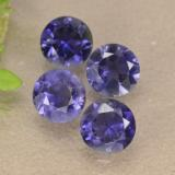 thumb image of 1.1ct Round Facet Violet Blue Iolite (ID: 474160)