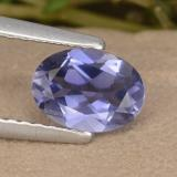 thumb image of 0.7ct Oval Facet Violet Blue Iolite (ID: 476580)