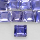thumb image of 0.1ct Square Facet Intense Violet Blue Iolite (ID: 534914)