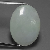thumb image of 13.8ct Oval Cabochon Green Jadeite (ID: 419910)