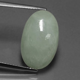 thumb image of 12ct Oval Cabochon Green Jadeite (ID: 419912)