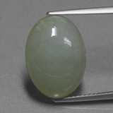 thumb image of 9.5ct Oval Cabochon Green Jadeite (ID: 420010)