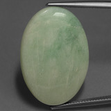 thumb image of 27.6ct Oval Cabochon Green Jadeite (ID: 420165)