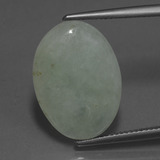 thumb image of 9.7ct Oval Cabochon Green Jadeite (ID: 420495)