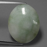 thumb image of 13.6ct Oval Cabochon Green Jadeite (ID: 420606)