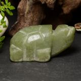 thumb image of 87ct Carved Turtle Green Jadeite (ID: 470458)