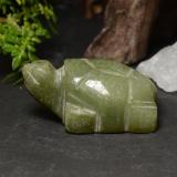 thumb image of 76.6ct Carved Turtle Green Jadeite (ID: 470459)