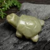 thumb image of 86.5ct Carved Turtle Green Jadeite (ID: 470542)